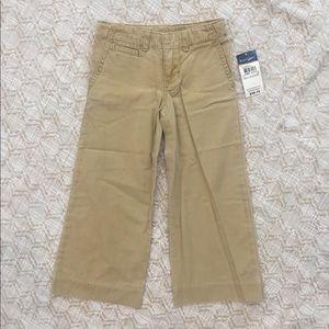 NWT Ralph Lauren girls boys khaki pants size 4